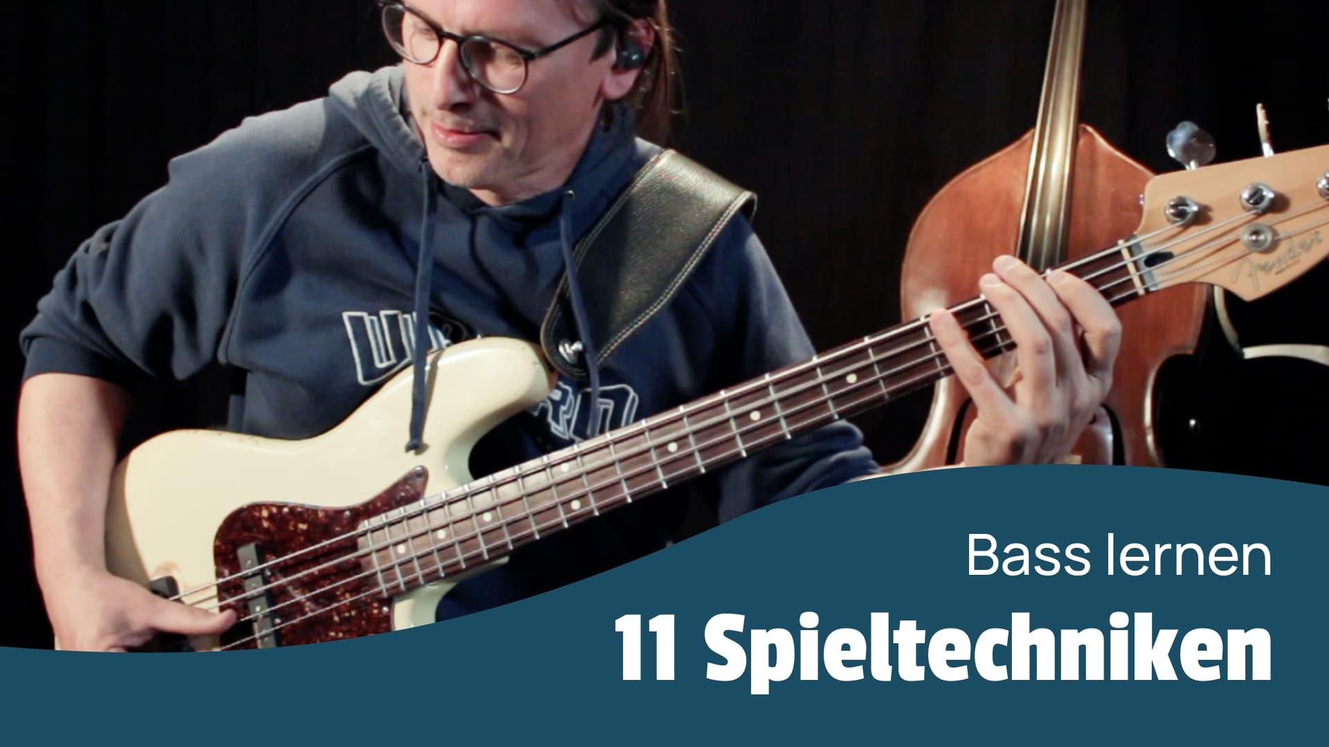 Bass Spieltechnik lernen