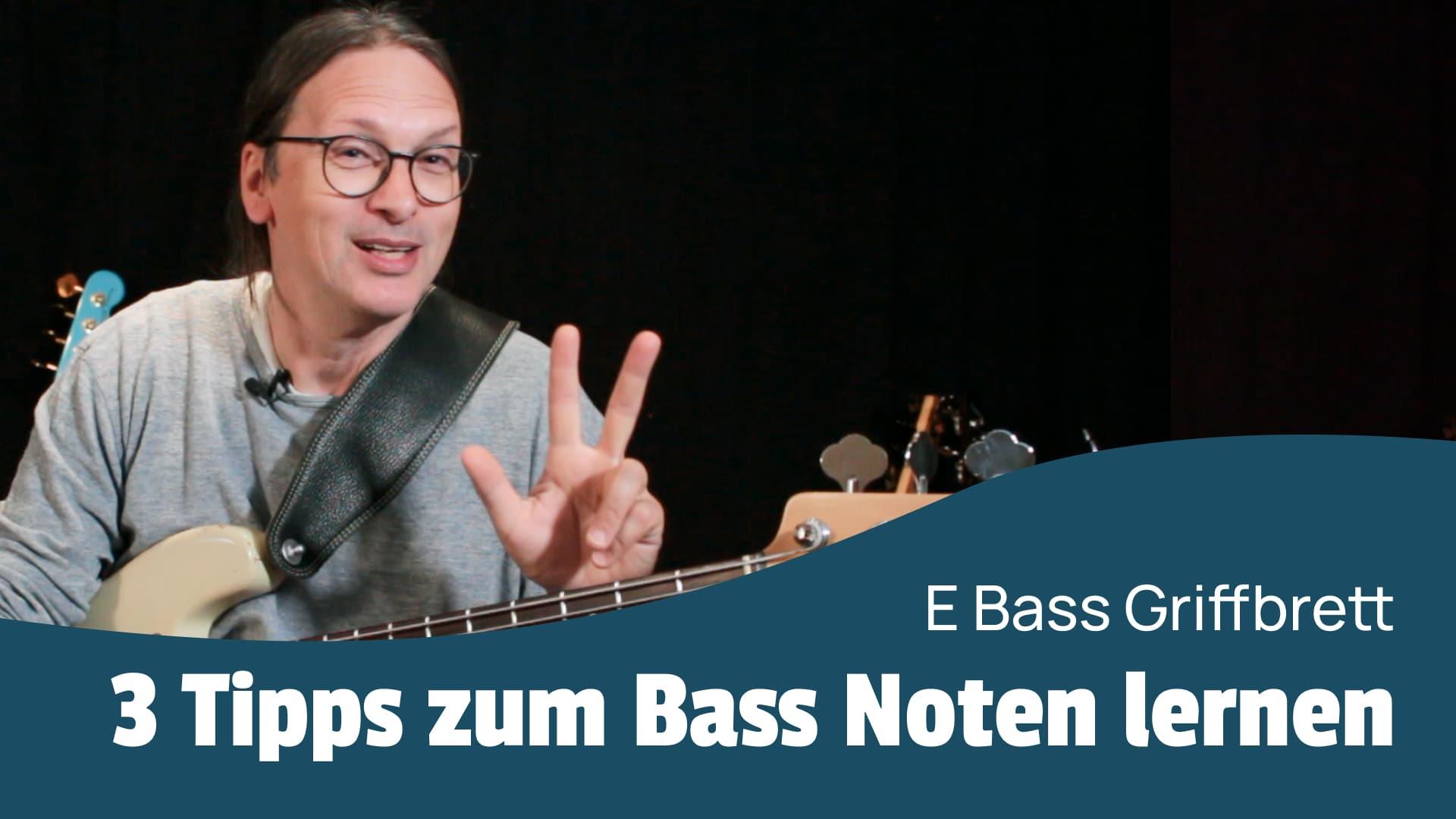 Bass Griffbrett lernen